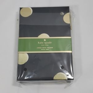 Kate spade Loose Note Holder w/ Pen (Scatter Dot)